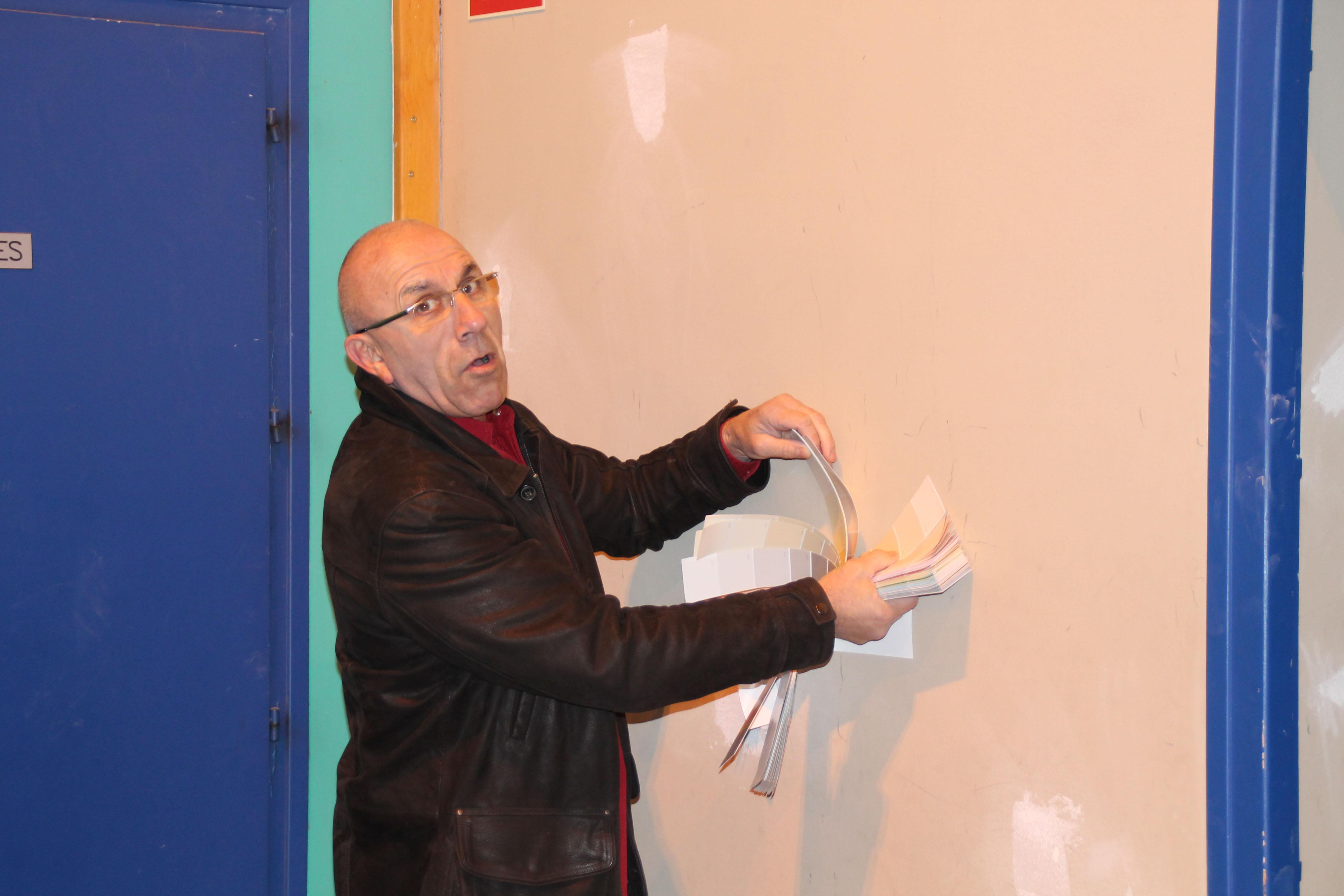 Remi Meuriot, Chef de service des chantiers educatifs -le choix des couleurs